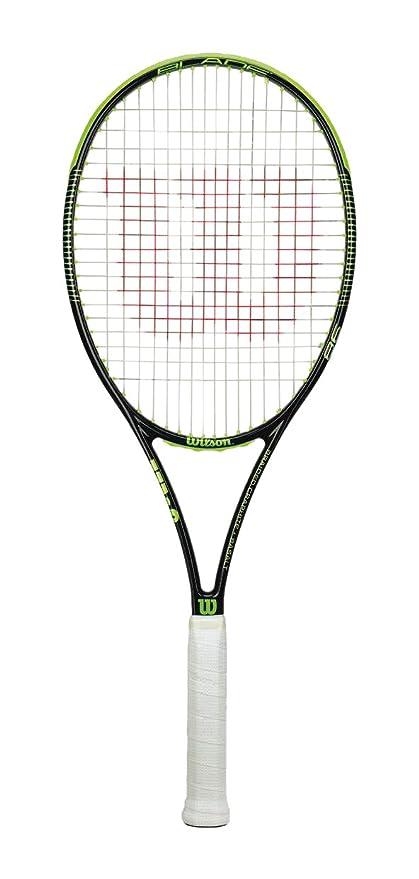 WILSON Unisex's Blade 98 16 x 19 W/O CVR Racquet Yellow/Black/Lime, 2 Grip