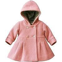 Weixinbuy Baby Girls' Solid Color Long Sleeve Outwear Winter Warm Coat Hoodie