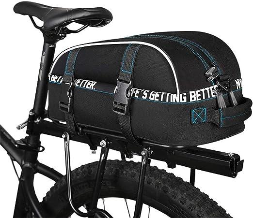 Bolsa de asiento de bicicleta 8L bicicleta multifunción bicicleta maleta equipaje bolsa bicicleta asiento trasero maletero bolsa accesorios bandolera for ciclismo viaje con cinta reflectante Borsa da: Amazon.es: Hogar