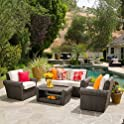 Agata 4 Pc. Outdoor Wicker Chat Set