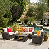 Agata Patio Furniture ~ 4-Piece Outdoor Wicker Conversation (Chat) Set