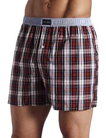 tommy hilfiger men 39 s tommy tartan boxer deep red xx. Black Bedroom Furniture Sets. Home Design Ideas