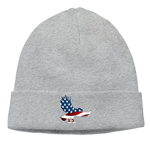 7b90b3245faf8 Image Unavailable. Image not available for. Color  American Eagle Flag  Cable Knit Skull Caps Thick Soft ...