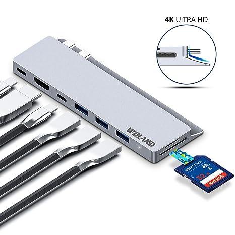 Macbook Pro Hub USB C HUB con Thunderbolt 3, 4K HDMI, 3 x ...