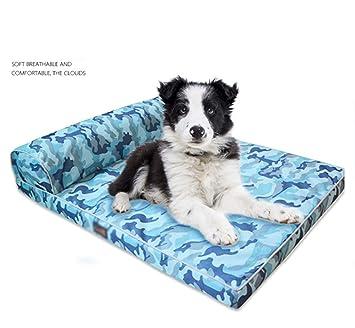 QNMM Cama ortopédica para Mascotas para Perros y Gatos,Blue ...