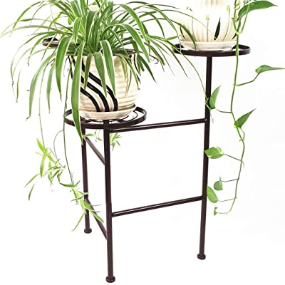 LRW European Style Iron Art Flower Stand Floor Balcony Indoor and Outdoor Living Room Decorative Plant Rack: Garden & Outdoor