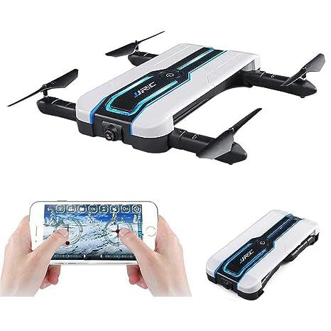 RCDNE Drone Selfie Plegable con cámara 720P, Drone FPV WiFi ...