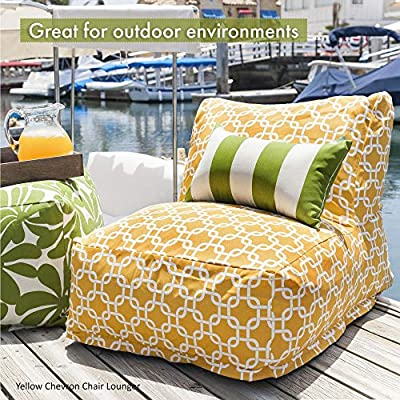 Amazon.com: Majestic Home Goods Sage Bamboo Bean Bag Chair ...