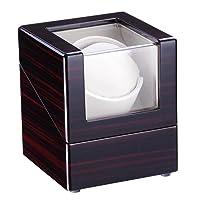 Yescom Automatic Single Watch Winder Display Box Cherry Wooden White Lint Inside Storage Organizer Case