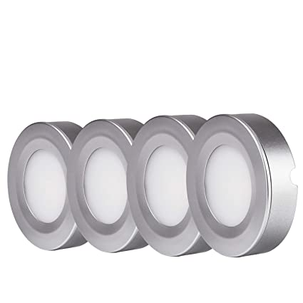 Great TORCHSTAR LED Under Cabinet Lighting Kit: 4pcs 2W LED Puck Lights (Recessed  U0026 Surface