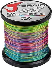 Daiwa J-Braid X8, 1500m multi colour - braided Fishing line