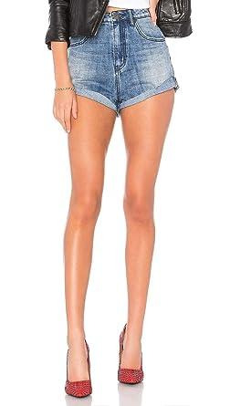f033757df95e Amazon.com  One Teaspoon Blue Society High Waist Bandits Jean Shorts ...