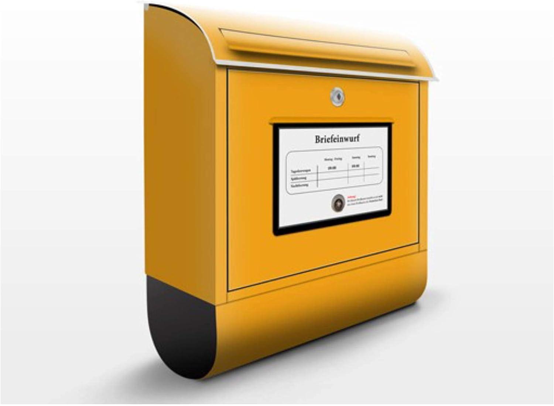 Buzón de diseño Mailbox 39x46x13cm, acero inoxidable, buzón, diseño buzón, postbox, diseño de correos con compartimento para periódicos, caja, Tamaño: 46cm x 39cm: Amazon.es: Bricolaje y herramientas