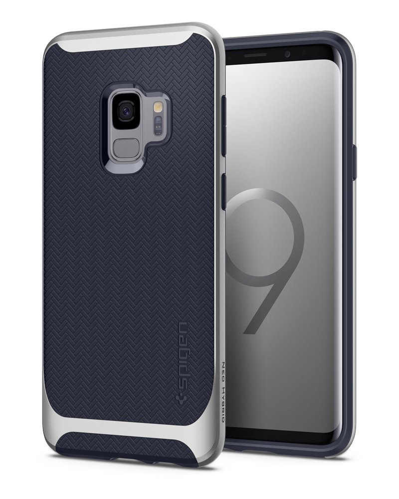 Galaxy S9 Case Spigen Neo Hybrid - Premium Reinforced Dual Frame Clear and Slim Protection for Samsung Galaxy S9 (2018) - Gunmetal 592CS22856