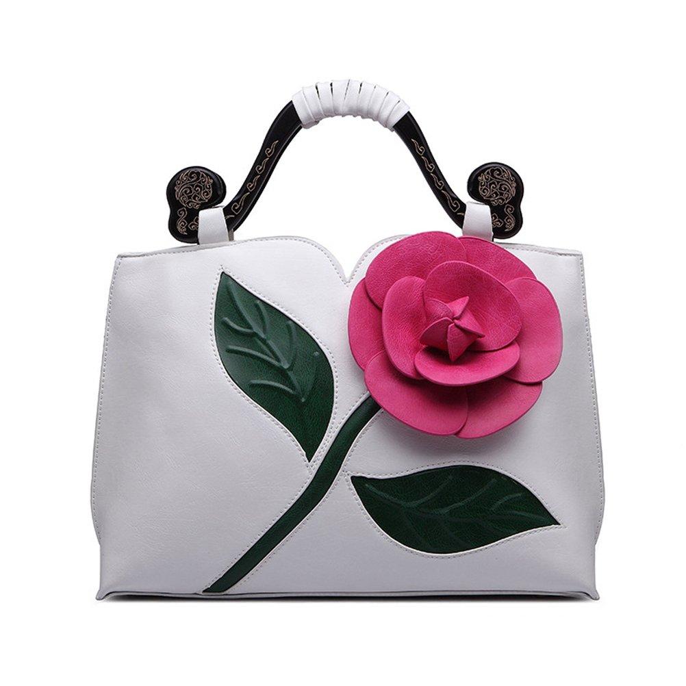 SUNROLAN 6111bai Women's Top Handle Satchel Handbags Formal Party Wallets Wedding Purses Wristlets Ethnic Totes Evening Clutches