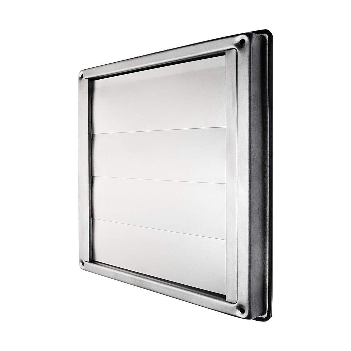 Klimapartner VKE 100 Rejilla de Ventilaci/ón Aire Externo de Acero Inoxidable del Louvre L/áminas