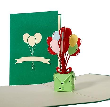 Biglietti Auguri Compleanno Portasoldi 3d Per Bambini O Ragazza