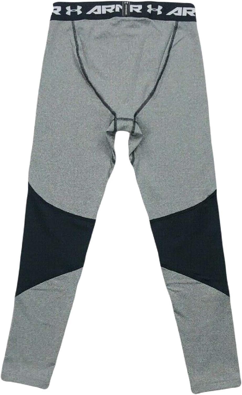 // Grey Heather, Medium Black 001 Under Armour Boys Armour ColdGear Legging