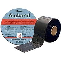 Bitumen aluminium band reparatietape afdichttape kleur zwart 50 mm - rol 10 meter. Made in Germany.