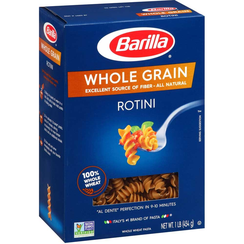 Barilla Whole Grain Rotini, 16 Ounce - 8 per case.