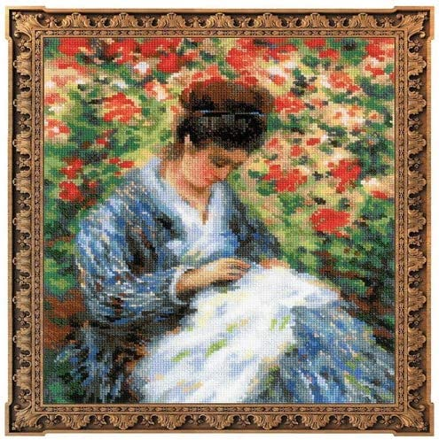 Monets Painting Camille Monet After C RIOLIS Premium 100//051 Counted Cross Stitch Kit 10 x 12 14 Count White AIDA 31 Colors