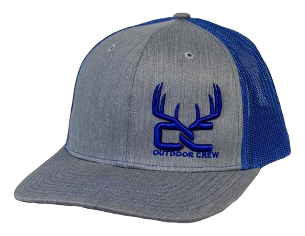8bc143a2cfb Outdoor Crew Hat Horns Trucker Azul Snapback Gray Blue OC-006 at Amazon  Men s Clothing store