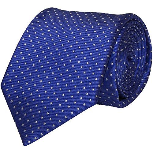 White TiesRus Tie Polka Men's and Blue Classic Dot n8rBwE48qx