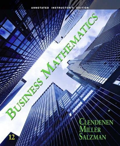 Annotated Instructor's Edition for Business Mathematics pdf