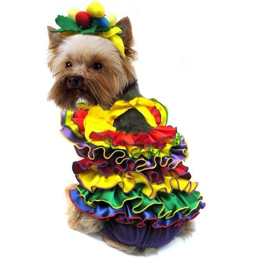 Queen Costumes Colorful Carnival Dress Dogs