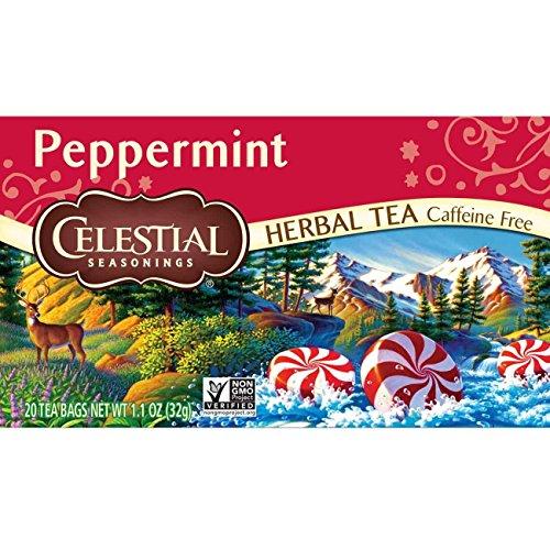 Celestial Seasonings Herbal Tea, Peppermint, 20 Count (Pack of 3)