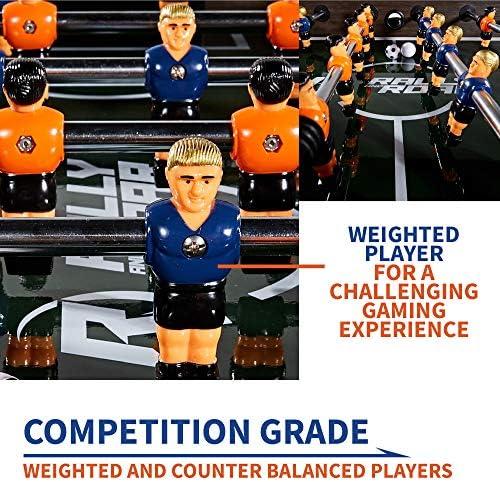 Rally and Roar - Juego de mesa de fútbol para adultos y niños, tamaño estándar de 142 cm, divertido, mesa para varias personas, juegos de fútbol, salas de juegos, arcadas, bares, fiestas,