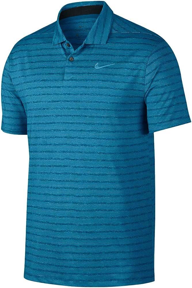 Nike Dry Fit Vapor Stripe Golf Polo 2019 Green Abyss/Pure Medium ...