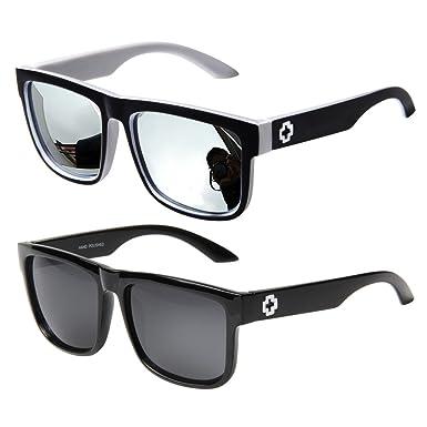 Jee Nerd Sonnenbrille im Wayfarer Stil Retro Vintage Unisex Brille 81016(Leopard,schwarz)