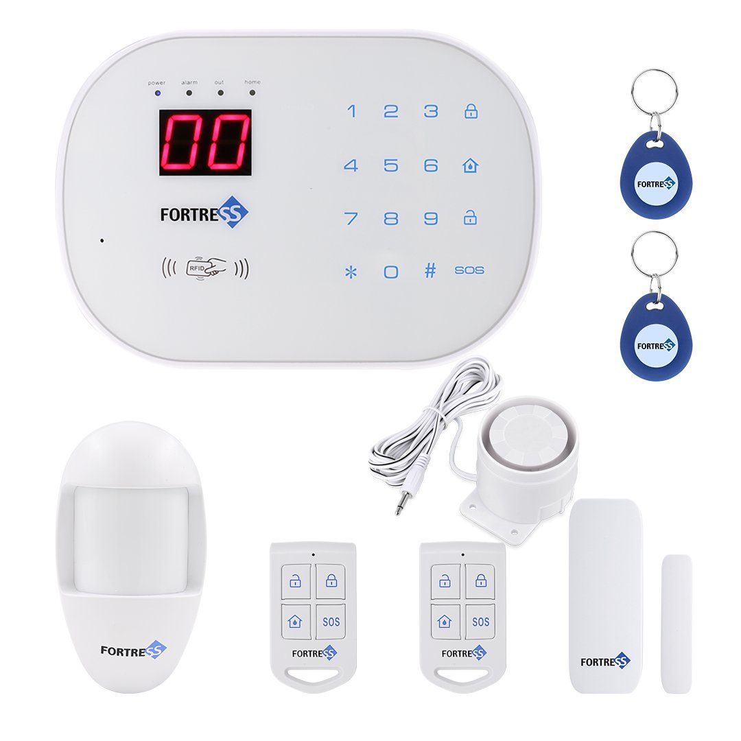 Fortress Security Store (TM) S03 Basic Wireless Home and Business Security Alarm System DIY Kit with Auto Dial, Motion Detectors and More for Complete Security