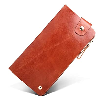 Sumferkyh Billetera Billetera Larga de Cuero para Hombres Cartera de múltiples Carteras Billetera para Tarjetas de