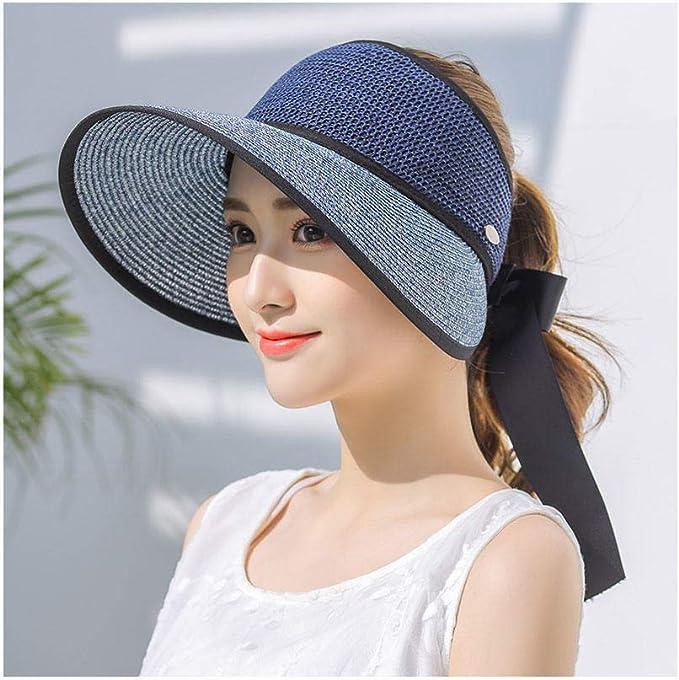 ZBYHCH Gorra de Playa Plegable Sombrero de sombrilla para Dama ...