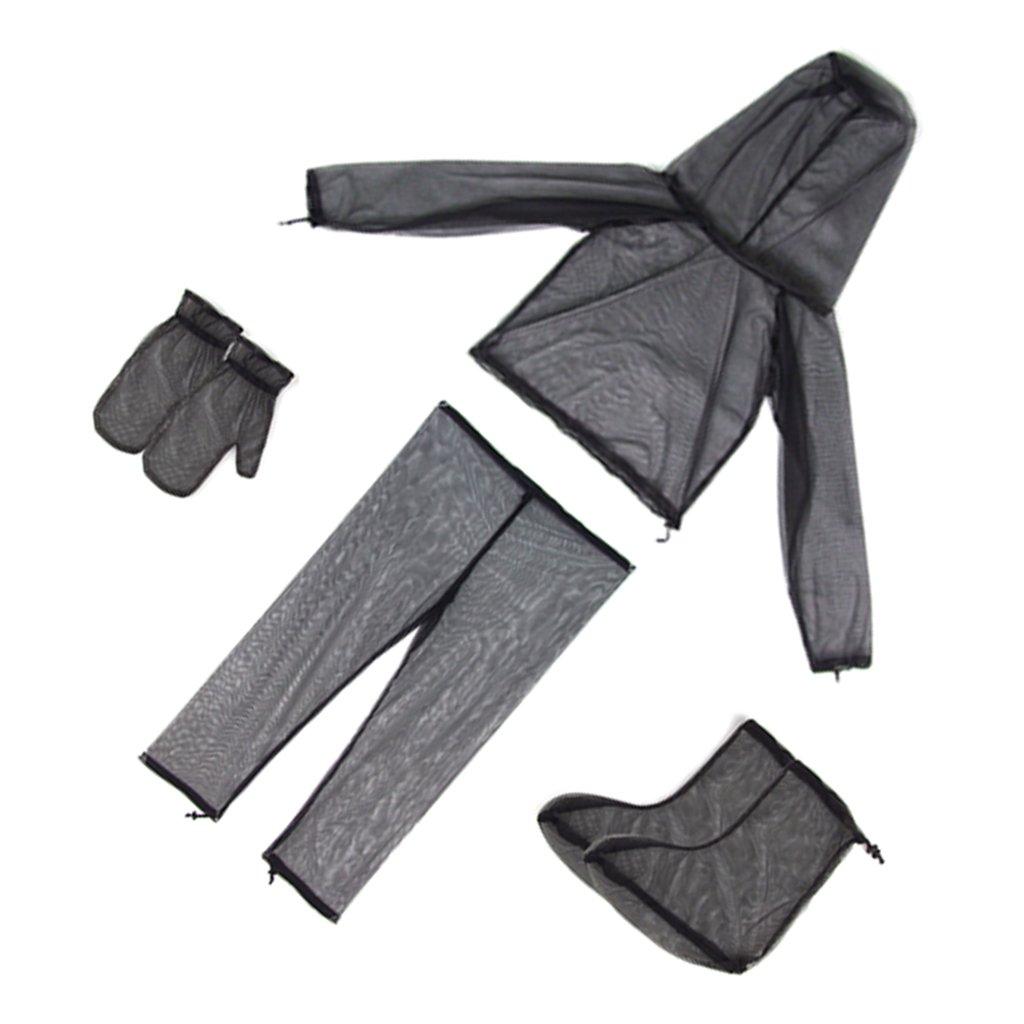 MagiDeal Allaperto Pantaloni Giacca Zanzariera Anti-insetti Di Maglia Insetto Set Tuta per Campeggio Caccia Abbigliamento