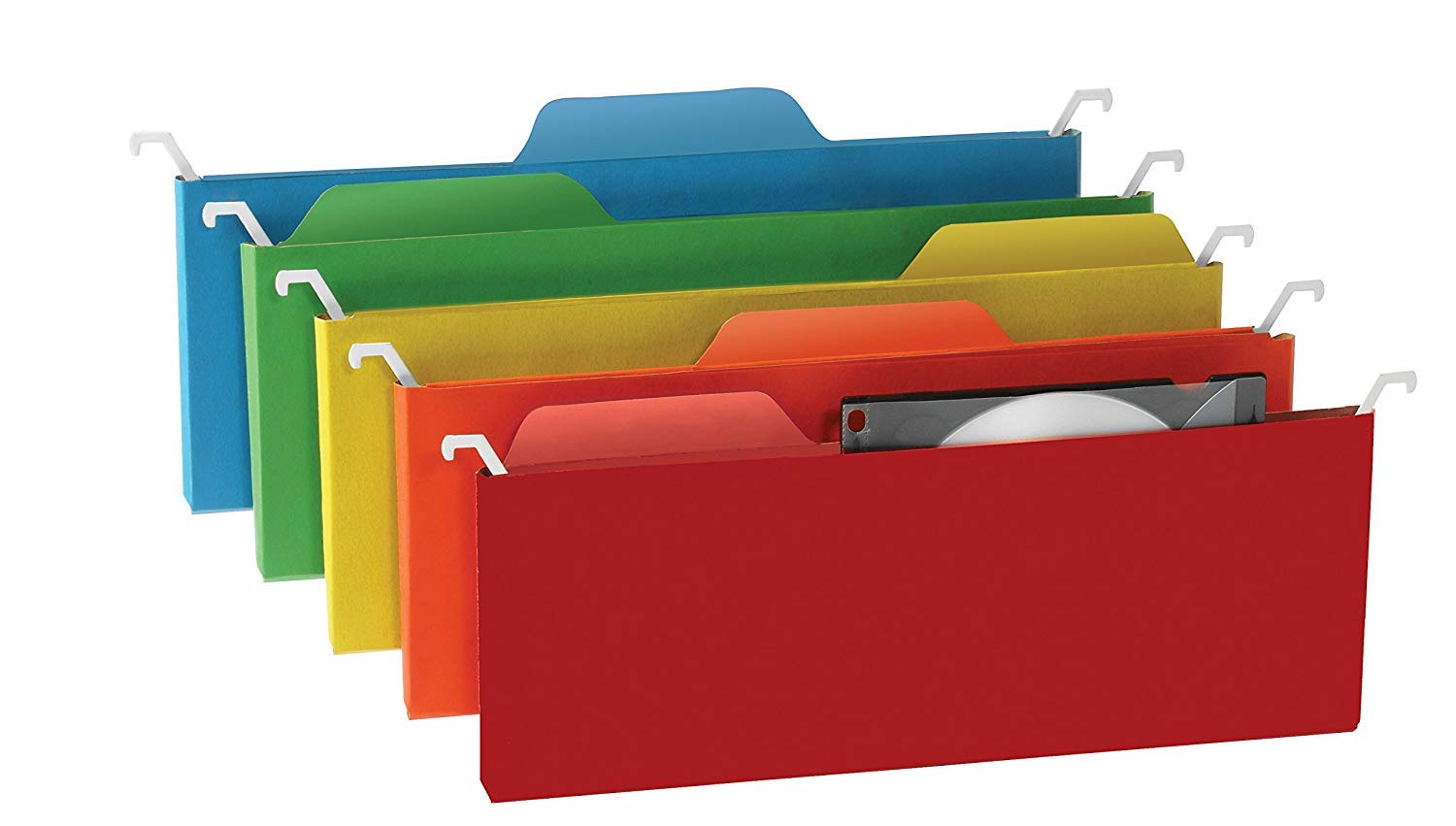 Find It Tab View Mini Hanging File Folders, Assorted Colors, 6 Pack (FT07184) (12 Pack)