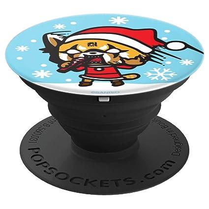 Aggretsuko Christmas.Amazon Com Aggretsuko Christmas Karaoke Popsockets Grip