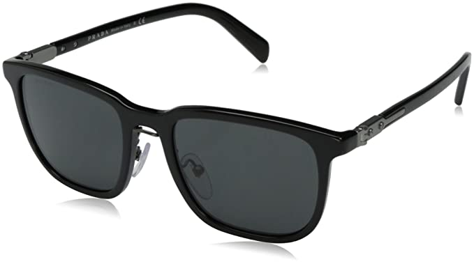 3c717704b5cd Amazon.com: Prada Men's 0PR 02TS Black/Grey Gradient One Size: Clothing
