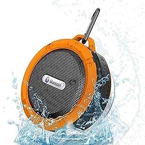 C6 sonido del Subwoofer altavoz Bluetooth con micrófono altavoz inalámbrico impermeable naranja