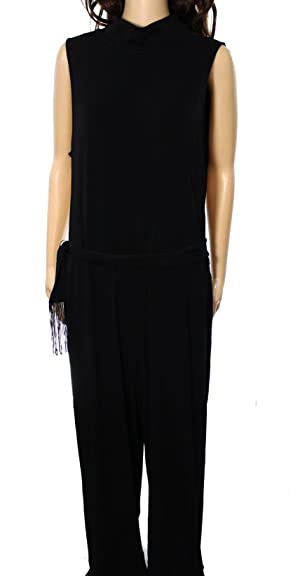 Lauren Ralph Lauren Women's Small Stretch Jumpsuit Black S