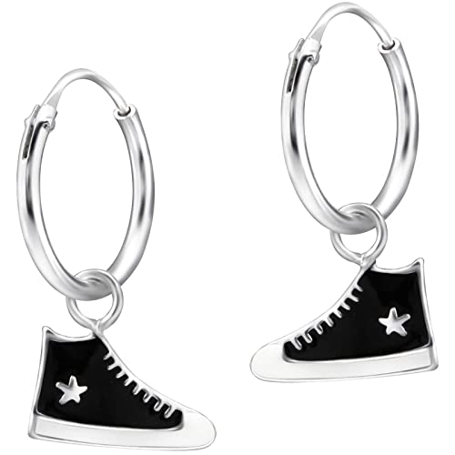 Sterling X In 17 925 Argento Children's Sneakers Hoops Bianco 11 mm Sneakers Jayare E AXxvqUwPwB