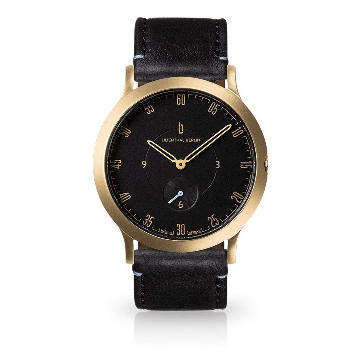 Lilienthal Berlin -Made in Germany- ベルリンの新しい時計モデル L1 ステンレススチール ケース B01N2JKKXV サイズ: 37.5 mm|ケース:ゴールド/ ダイアル:ブラック / ストラップ:ブラック ケース:ゴールド/ ダイアル:ブラック / ストラップ:ブラック サイズ: 37.5 mm