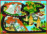 Disney Cars Rug Mt Fuji Edition Toys w/ Lightning McQueen Toy Car Kids Cars2 Bedding Game Rugs, 32