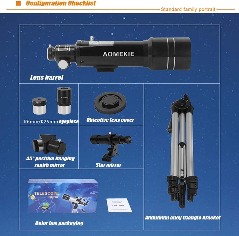 16X outdoor equipment Astronomisches Teleskop-Multifunktions-tragbares optisches HD-Teleskop 66X 225X professionelles Hochleistungsteleskop Weltraumteleskop f/ür Anf/änger