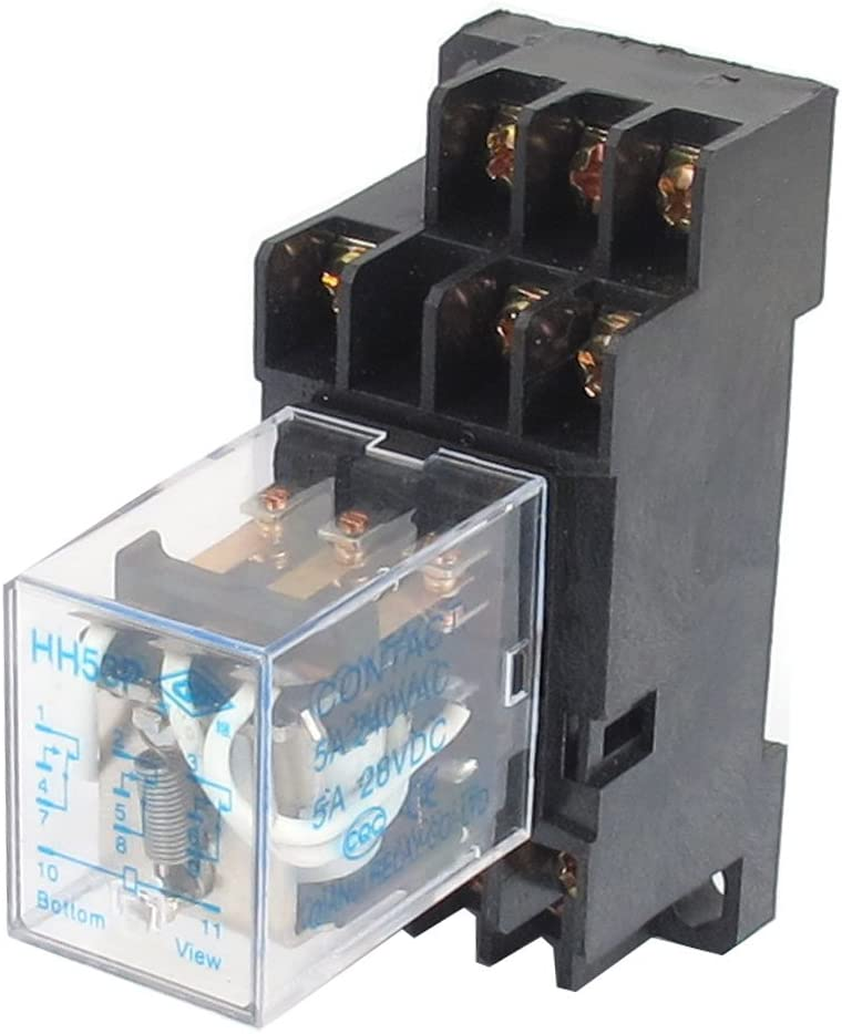 Sourcing Map Dc 12v Spule 5a 3pdt General Purpose Power Relay Hh53p 11 Pin Mit Basis Sockel Baumarkt