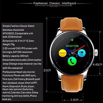 Smart Watch K88H 2018 - Reloj de Pulsera Inteligente ...