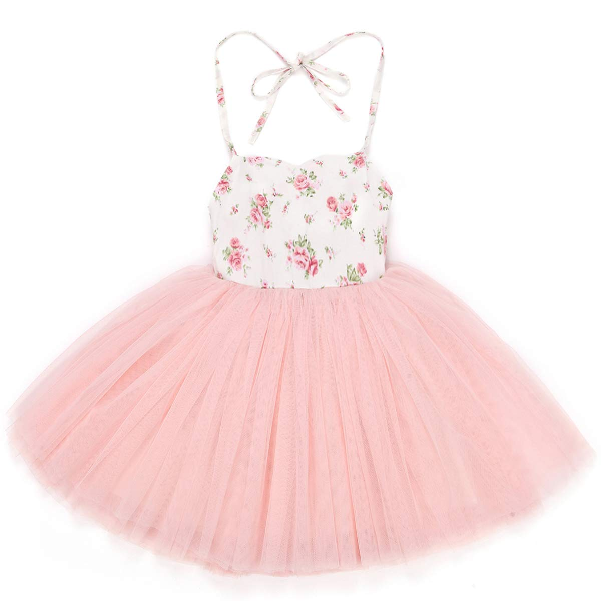 1a98970cf9198 Flofallzique Special Occasion Girls Dress Pink Tutu Wedding Christening  Birthday Baby Toddler Clothes