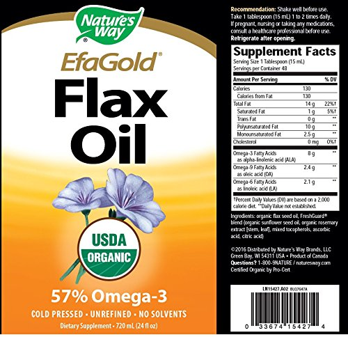 Nature's Way Flax Oil, 24 Ounce ( Multi-Pack)